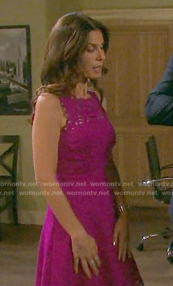 Hope's purple lace dress on Days of our Lives