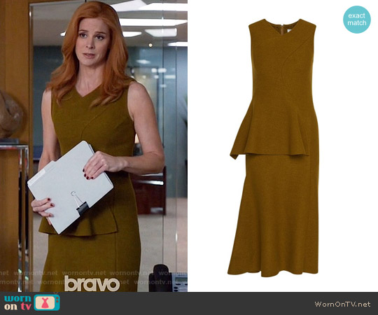 Hugo Boss FS Dipira Wool Peplum Dress worn by Sarah Rafferty on Suits