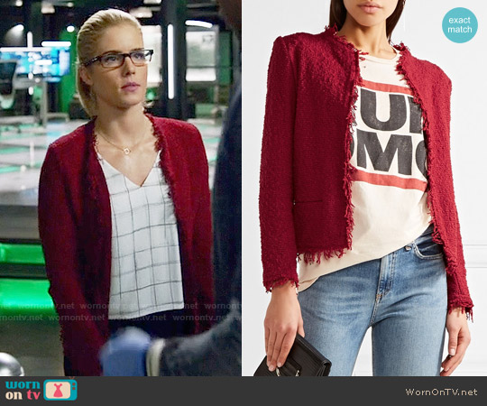 IRO Shavani Jacket worn by Felicity Smoak on Arrow