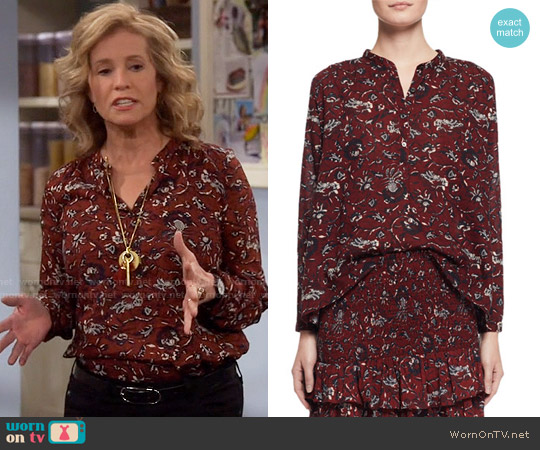 Etoile Isabel Marant Amaria Top worn by Vanessa Baxter (Nancy Travis) on Last Man Standing