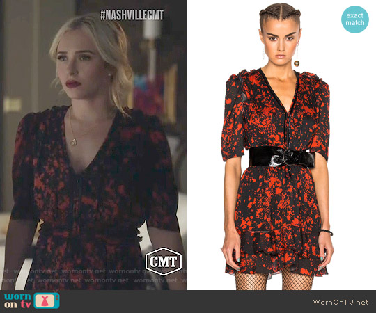 Isabel Marant Irina Dress worn by Hayden Panettiere on Nashville