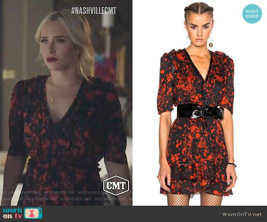 Isabel Marant Irina Dress worn by Juliette Barnes (Hayden Panettiere) on Nashville