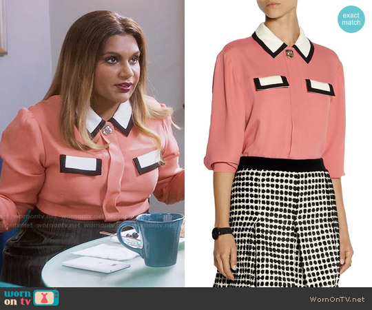 Issa Ruth Blouse worn by Mindy Lahiri (Mindy Kaling) on The Mindy Project