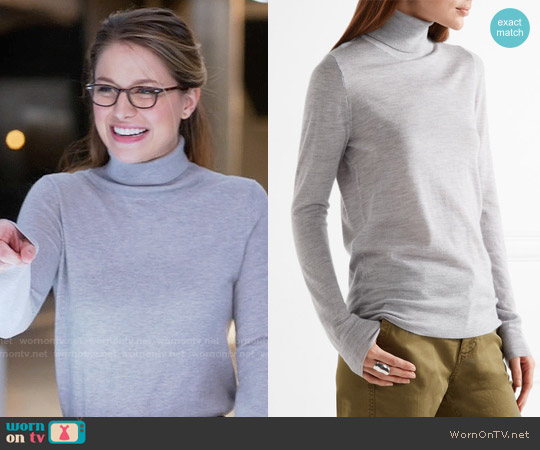 J. Crew Cashmere Turtleneck Sweater worn by Melissa Benoist on Supergirl