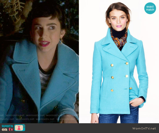 J. Crew Majesty Peacoat worn by  Molly Ephraim on Last Man Standing