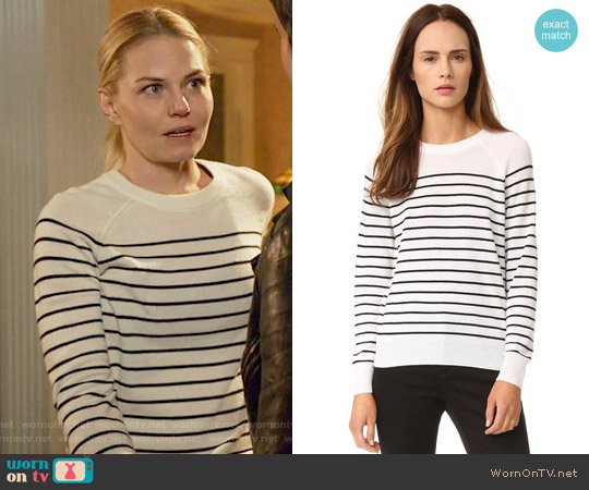 Jenni Kayne Striped Cashmere Sweater worn by Jennifer Morrison on OUAT