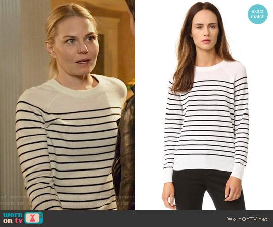 Jenni Kayne Striped Cashmere Sweater worn by Emma Swan (Jennifer Morrison) on OUAT