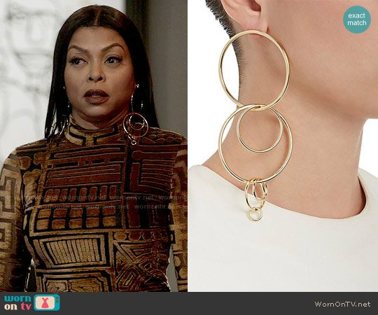 Jennifer Fisher XL Multi Hoop Earrings worn by Cookie Lyon on Empire
