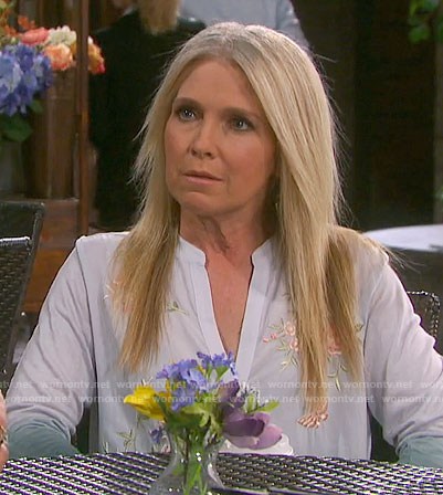 Jennifer's ombre embroidered top on Days of our Lives