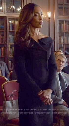 Jessica's black off the shoulder jacket on The Vampire Diaries