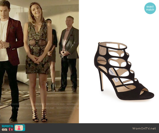 Jimmy Choo Ren Sandals worn by Megan Morrison on The Arrangement