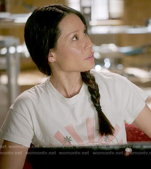 Joan's graphic t-shirt on Elementary
