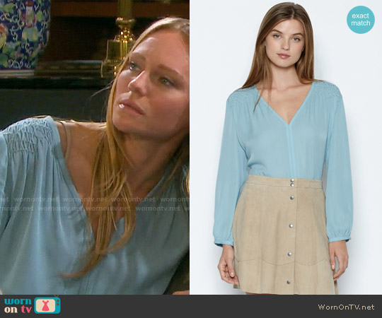 Joie Leyva Blouse worn by Marci Miller on Days of our Lives