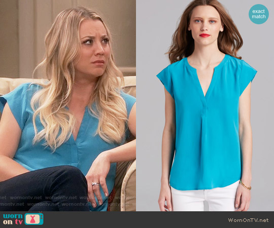 Joie Selenite Top worn by Kaley Cuoco on The Big Bang Theory