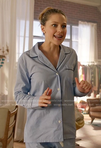 Kara's blue pajamas on Supergirl