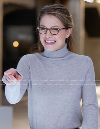 Kara's grey turtleneck sweater on Supergirl