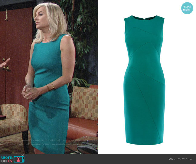 Karen Millen Seam Detail Pencil Dress worn by Ashley Abbott (Eileen Davidson) on The Young & the Restless