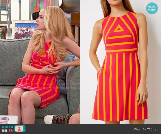 Karen Millen Striped Dress worn by Dove Cameron on Liv & Maddie