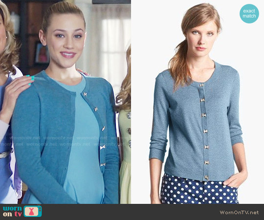 Kate Spade Afton Cardigan worn by Lili Reinhart on Riverdale