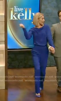 Kelly's blue jumpsuit on Live With Kelly