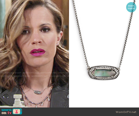 Kendra Scott Annika Necklace in Black Pearl worn by Melissa Claire Egan on The Young & the Restless
