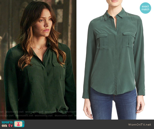 L'Agence Valerie Blouse worn by Paige Dineen (Katharine McPhee) on Scorpion
