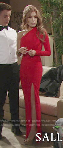 Lauren's red one-sleeved gown at the Opera on The Young and the Restless
