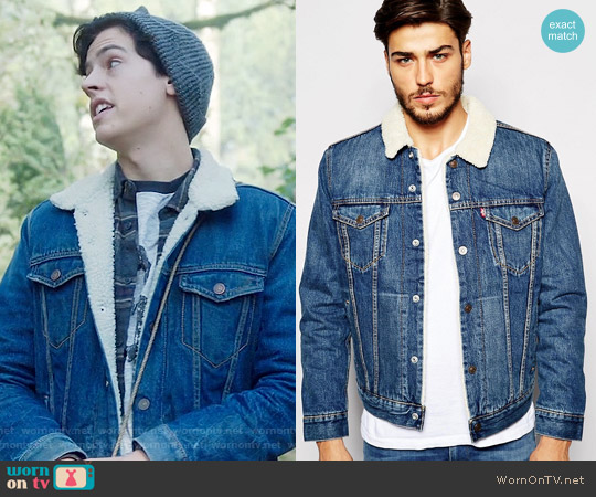 Levis Denim Sherpa Jacket worn by Cole Sprouse on Riverdale