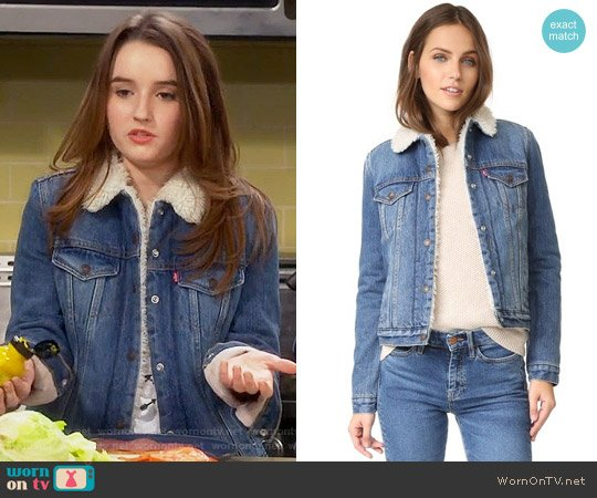 Levis Authentic Sherpa Trucker Jacket worn by Kaitlyn Dever on Last Man Standing