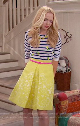 Liv's striped pineapple top and yellow skirt on Liv and Maddie