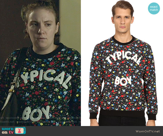 Love Moschino Typical Boy Sweatshirt worn by Hannah Horvath (Lena Dunham) on Girls