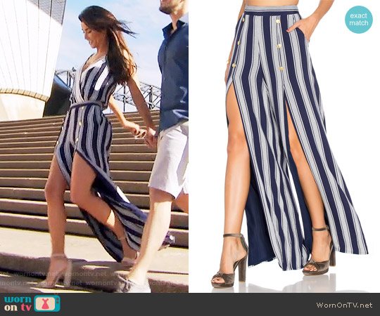 Lovers + Friends Farewell Slit Pants worn by Steffy Forrester on The Bold & the Beautiful