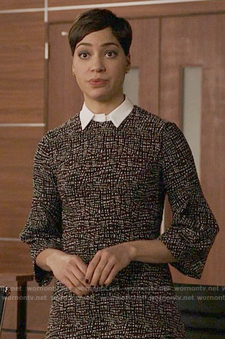 Lucca's collared dress on The Good Fight