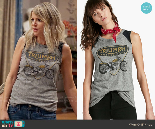 Lucky Brand Triumph Muscle Tank worn by Kaitlin Olson on The Mick