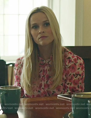 Madeline's pink floral blouse on Big Little Lies