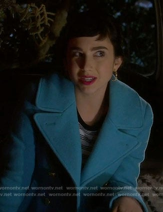 Mandy's blue coat on Last Man Standing