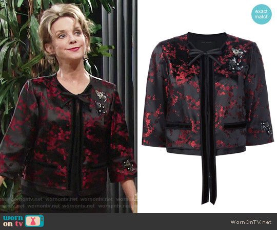 Marc Jacobs Cherry Blossom Jacket worn by Gloria Abbott Bardwell (Judith Chapman) on The Young & the Restless
