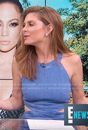 Maria's denim dress with cutouts on E! News