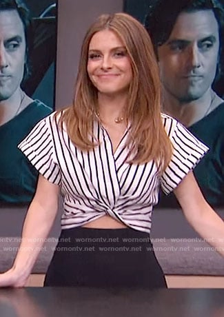 Maria's striped cropped shirt on E! News