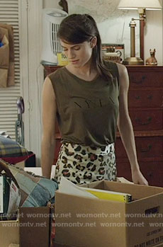 Marnie's NY / LA top and leopard print skirt on Girls