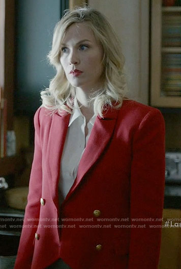 Melissa's red blazer on Last Man on Earth