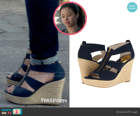 MICHAEL Michael Kors Damita Wedges worn by Mariana Foster on The Fosters