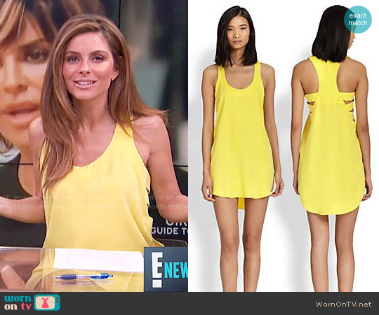 Mason by Michelle Mason Cutout-Side Racerback Dress worn by Maria Menounos  on E! News