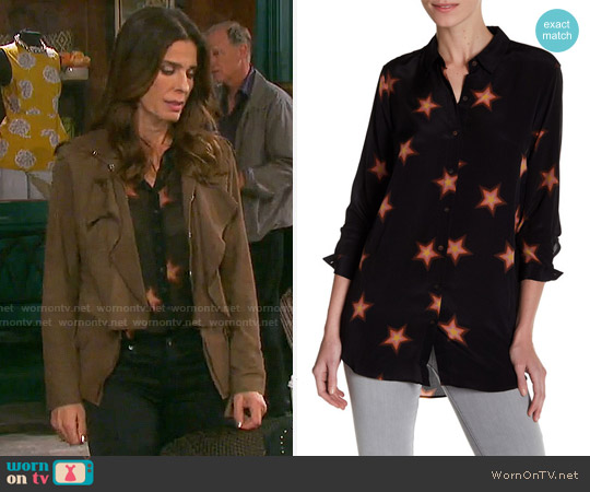 MiH Jeans Star Print Blouse worn by Hope Williams (Kristian Alfonso) on Days of our Lives