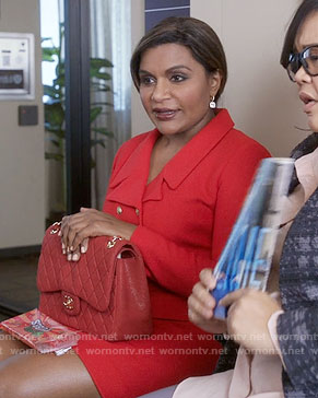 Mindy's red suit on The Mindy Project