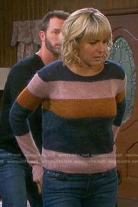 Nicole's striped sweater on Days of our Lives