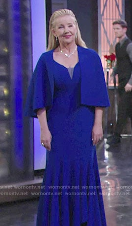 Nikki's blue caped gown at the Opera on The Young and the Restless