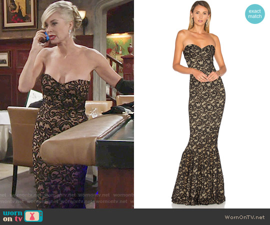 Norma Kamali Corset Gown worn by Eileen Davidson on The Young & the Restless