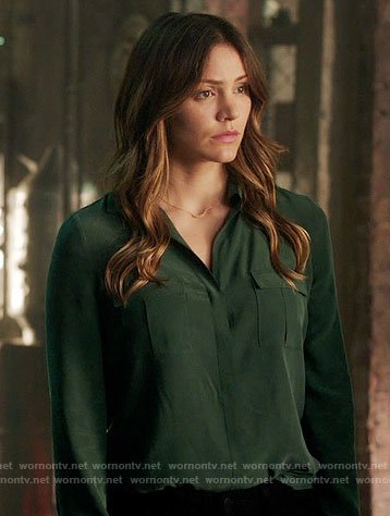 Paige's green blouse on Scorpion