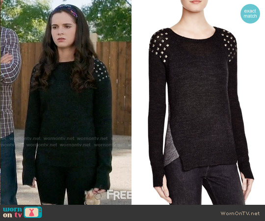 Pam & Gela Studded Sweater worn by Bay Kennish (Vanessa Marano) on Switched at Birth
